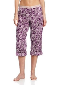 Calvin Klein Women's Woven Roll Up Pajama Pant