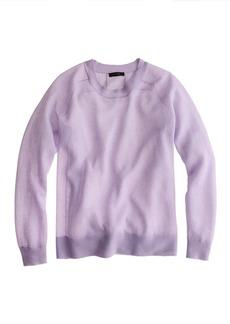 Crepe gauze sweatshirt sweater