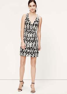 Graphic Print Crossover Dress