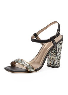Lanvin Metallic Jacquard Sandal, Multicolor