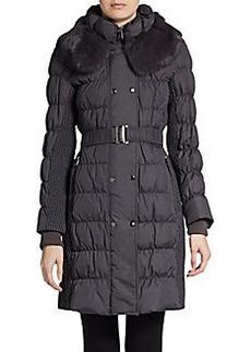Via Spiga Fur-Collared Down Puffer Coat