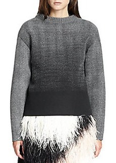 Proenza Schouler Ombré Knit-Textured Neoprene Sweater