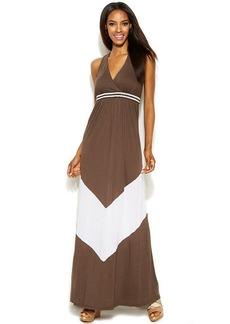 INC International Concepts Petite Sleeveless Bead-Embellished Maxi Dress