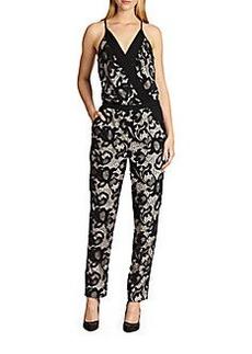 Diane von Furstenberg Shany Floral Lace Jumpsuit