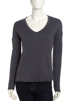 James Perse Wide V-Neck Pullover, Titan