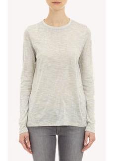 Proenza Schouler Line-Print Long-Sleeve T-shirt