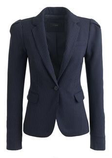 Puff-sleeve blazer in pinstripe