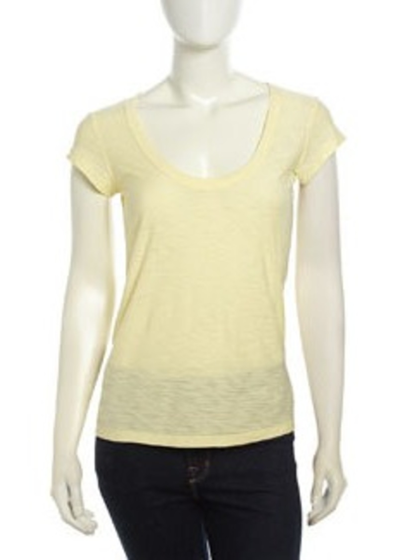 James perse james perse cap sleeve slub knit tee oz for James perse t shirts sale