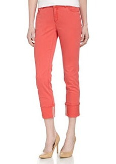 Lafayette 148 New York Cropped Cuffed Skinny Pants, Punch