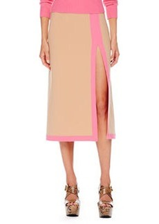 Michael Kors Stretch-Wool Slit Skirt