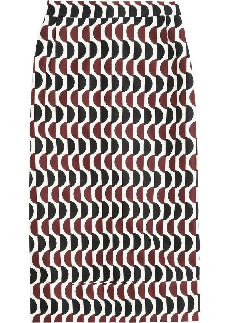 Marni Printed cotton skirt