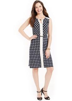 Jones New York Sleeveless Printed Colorblocked Dress