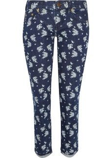 J.Crew Toothpick printed mid-rise skinny jeans