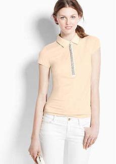 Jeweled Short Sleeve Polo