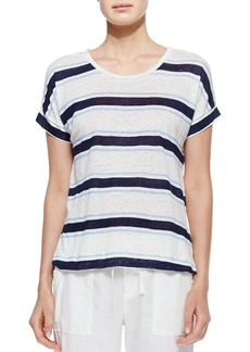 Joie Layette Striped Slub Linen Tee