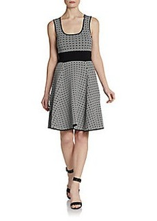Catherine Malandrino Caroline Scoopneck Tile Dress