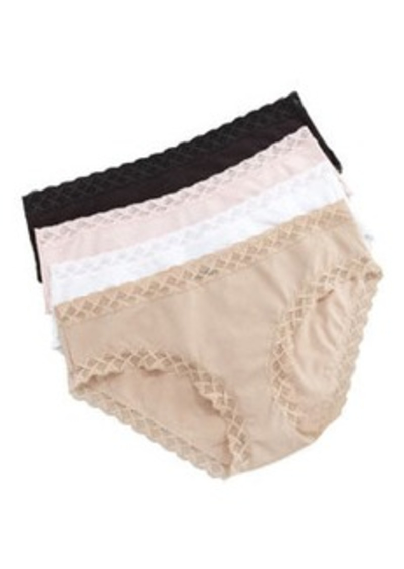 Natori Bliss Cotton Girl Briefs, Pink