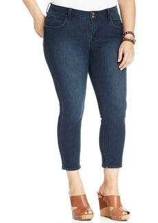 Lucky Brand Plus Size Ginger Capri Jeans, Lenoir Wash