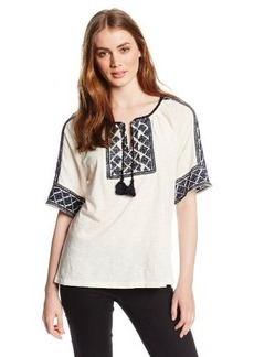 Lucky Brand Women's Ipenema Embroidered Top