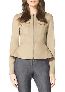 Michael Kors Twill Peplum Jacket