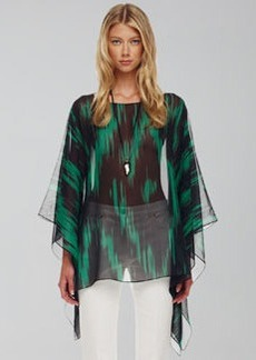 Michael Kors Printed Sheer Tunic
