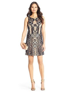 Neapoli Metallic Crochet Dress
