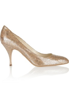 Brian Atwood Starlet metallic cork-effect pumps