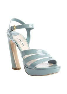 Miu Miu sky patent leather twist platform sandals