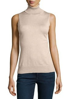 Lafayette 148 New York Turtleneck Silk-Blend Knit Blouse, Melba Melange
