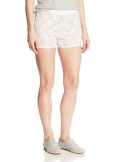 XOXO Juniors Lace Scalloped Short