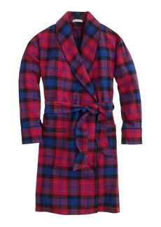 Robe in bright cerise plaid flannel