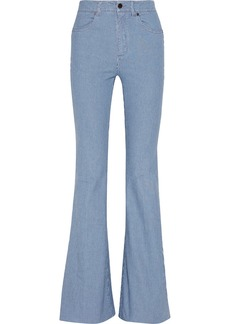 Stella McCartney Pinstriped high-rise flared jeans