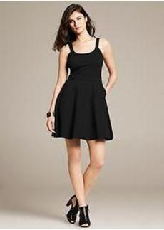 Black Ponte Tank Dress