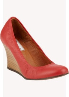 Lanvin Round-Toe Wedge Pumps