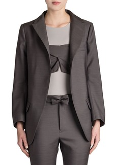 Jil Sander Reagan Long Wool-Silk Blazer