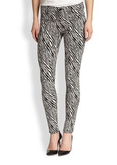 J Brand Printed Jacquard Super-Skinny Jeans