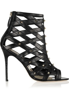 Brian Atwood Cori studded cutout leather sandals