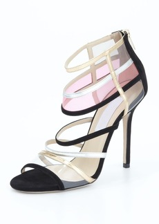 Jimmy Choo Maitai Strappy Cage Sandal, Black