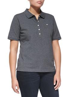 Escada Short-Sleeve Polo, Gray Melange