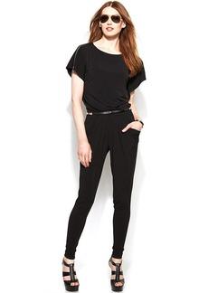 MICHAEL Michael Kors Dolman-Sleeve Belted Jumpsuit