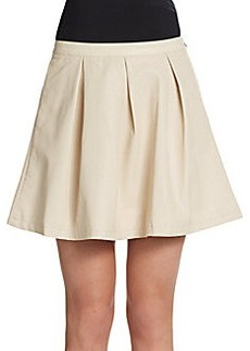 French Connection Albany Box Pleat A-Line Skirt