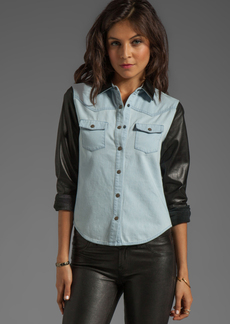 Joe's Jeans Denim with Leather Western Shirt