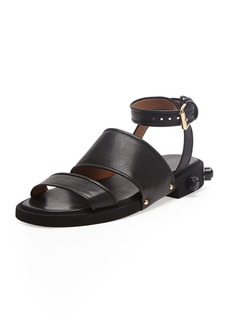 Givenchy Strappy Ankle-Wrap Flat Sandal