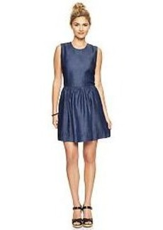 Tencel&#174 denim fit & flare dress