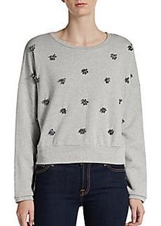 DKNY Applique Cropped Sweatshirt