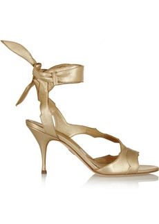 Brian Atwood Temptation metallic leather sandals