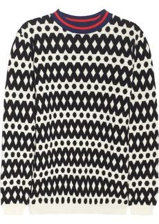 Marni Geometric wool-blend sweater