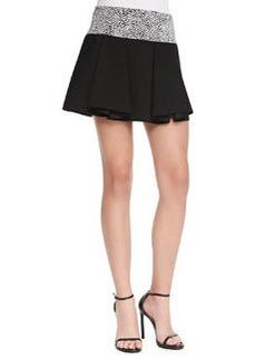 Robert Rodriguez Cheetara Flouncy Jersey Skirt