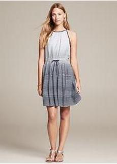 Ombre Stripe Halter Dress