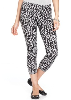 Hue Leopard Cotton Capri Leggings